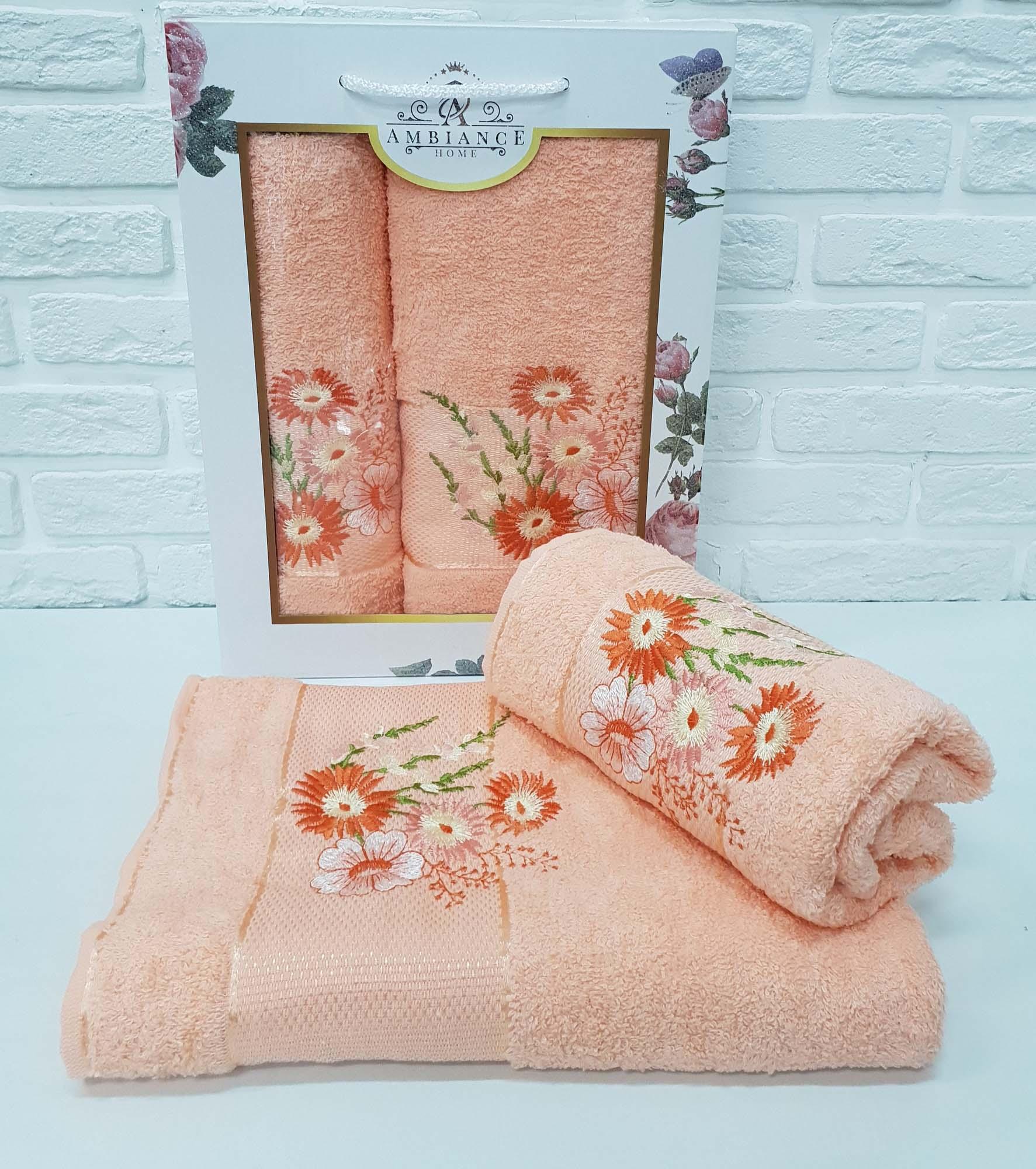 Набор полотенец Buddy Цвет: Персиковый (50х90 см,70х140 см)
