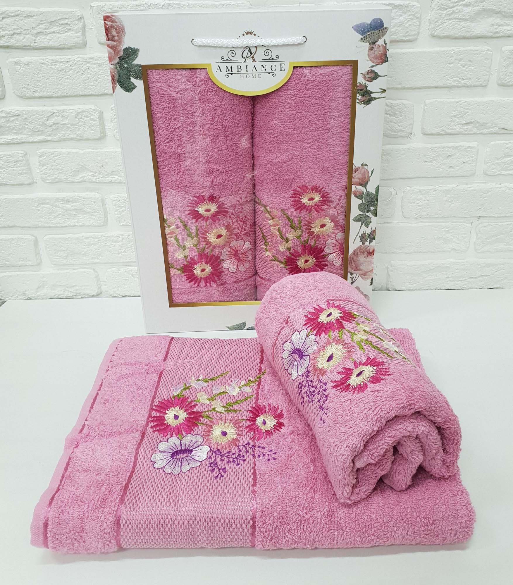 Набор полотенец Buddy Цвет: Розовый (50х90 см,70х140 см)