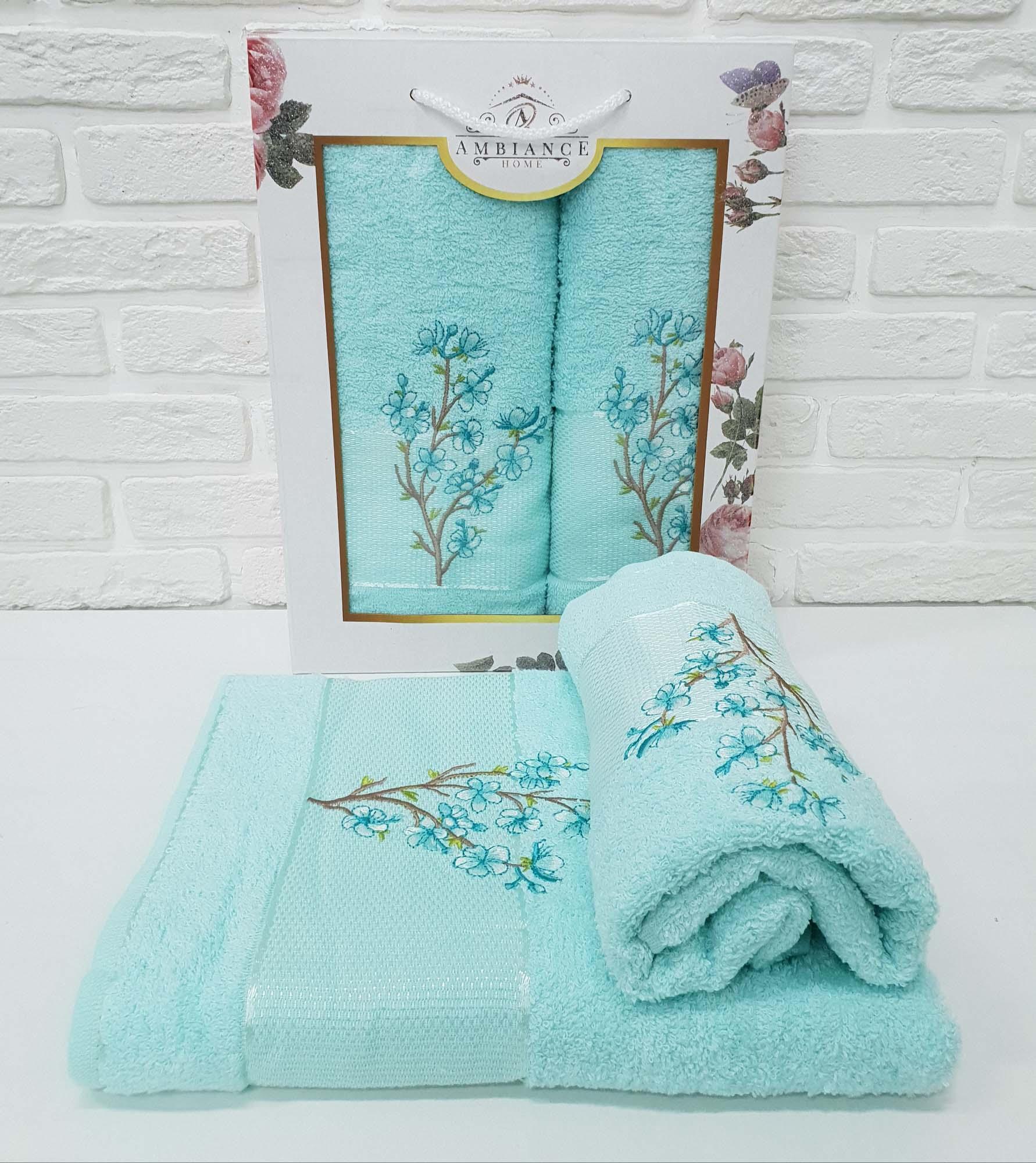 Набор полотенец Caelan Цвет: Ментоловый (50х90 см,70х140 см)