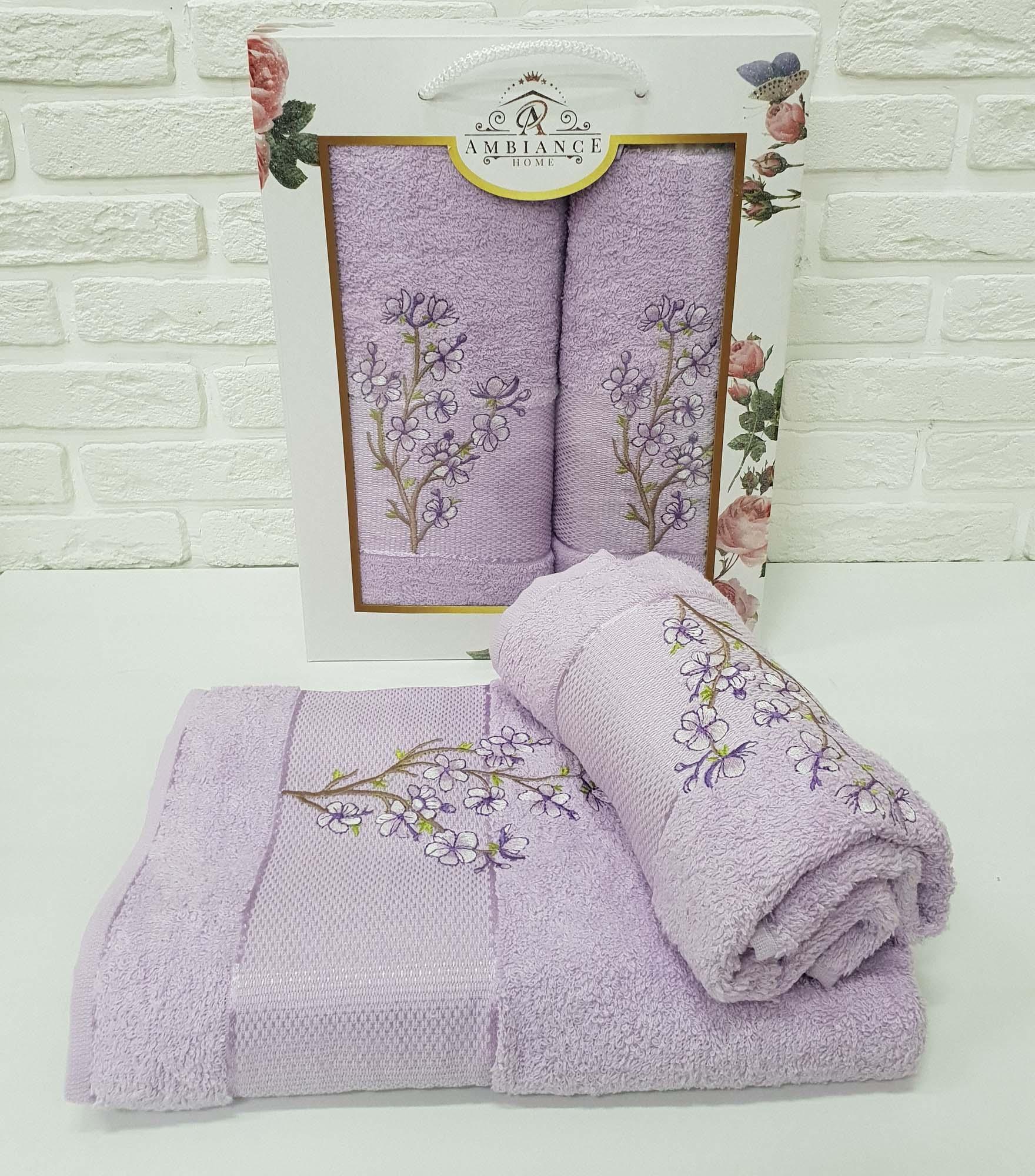 Набор полотенец Caelan Цвет: Лиловый (50х90 см,70х140 см)