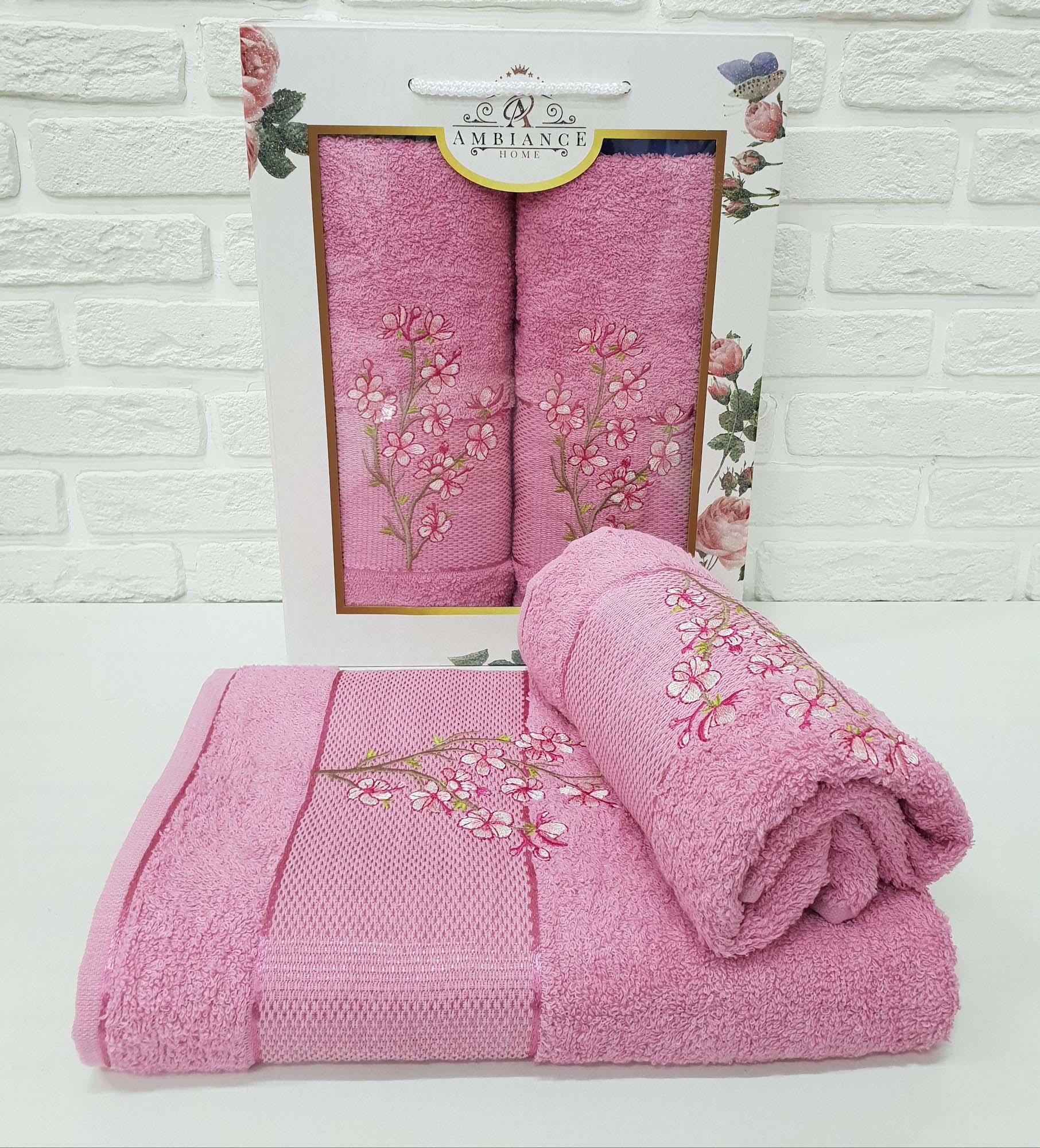 Набор полотенец Caelan Цвет: Сухая Роза (50х90 см,70х140 см)