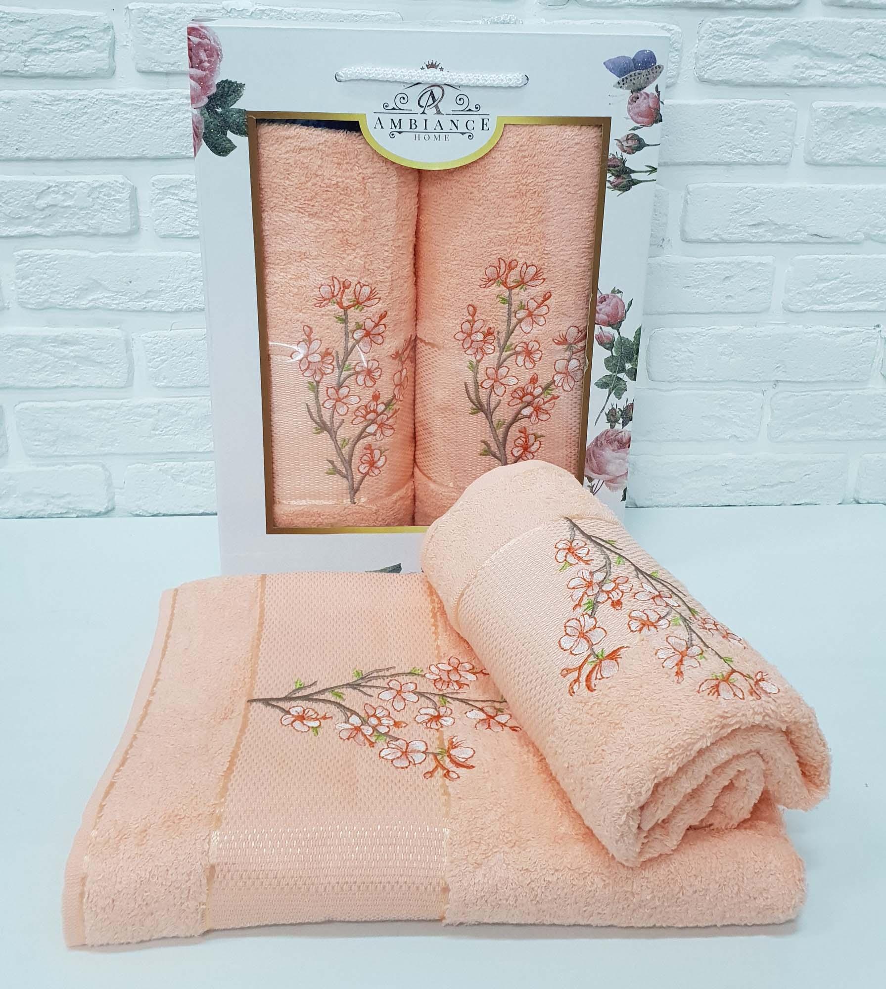 Набор полотенец Caelan Цвет: Персиковый (50х90 см,70х140 см)