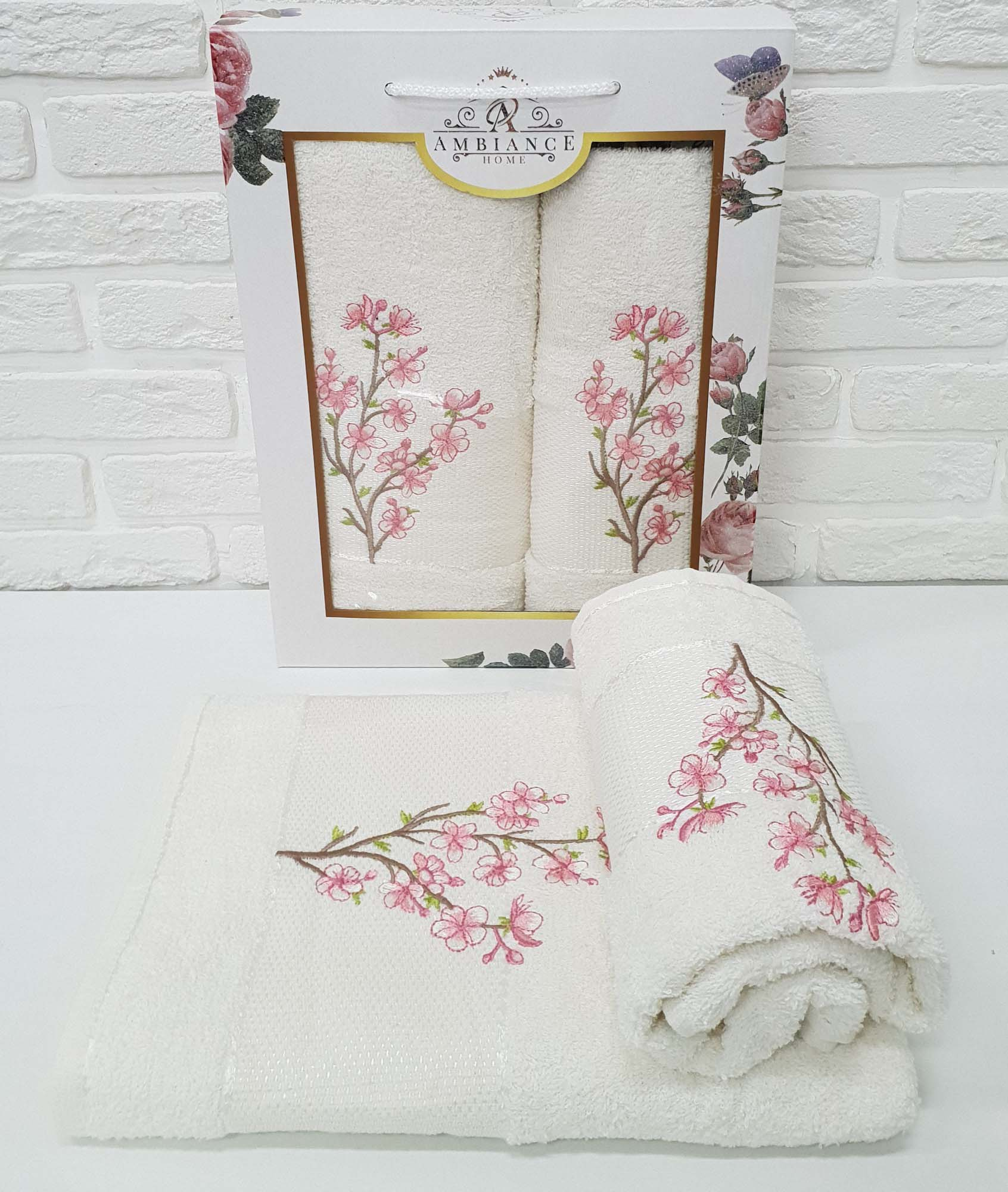 Набор полотенец Caelan Цвет: Кремовый (50х90 см,70х140 см)