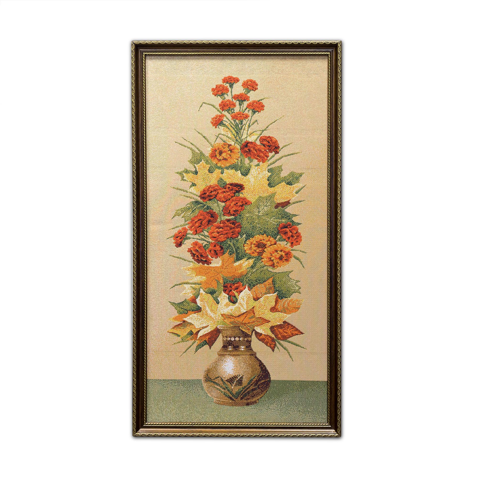 Купить Картины, постеры, гобелены, панно A La Gobelin, Картина Букет Осенний (39х73 см), Россия, Гобелен