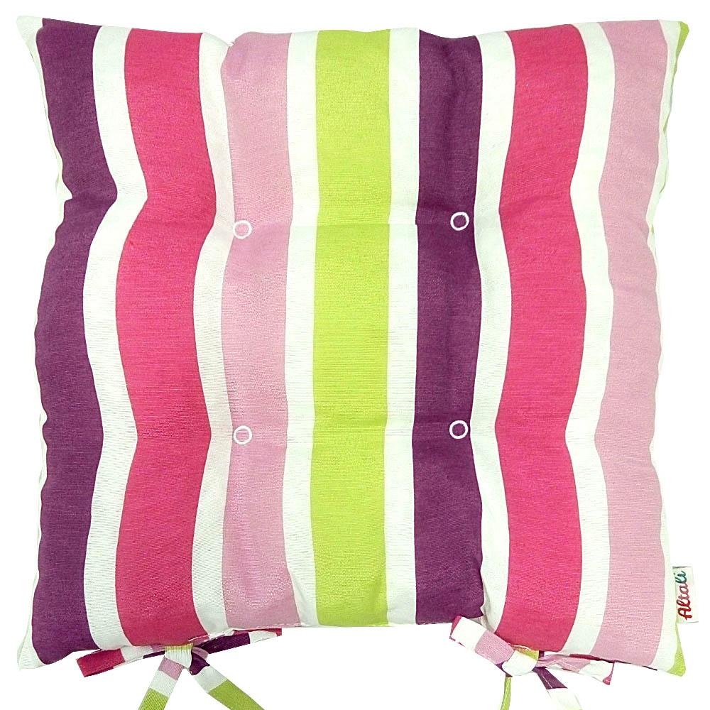 Купить Декоративные подушки Apolena, Подушка на стул Sabrina Royal (40х40), Россия-Турция, Зеленый, Розовый, Фиолетовый, Поликоттон