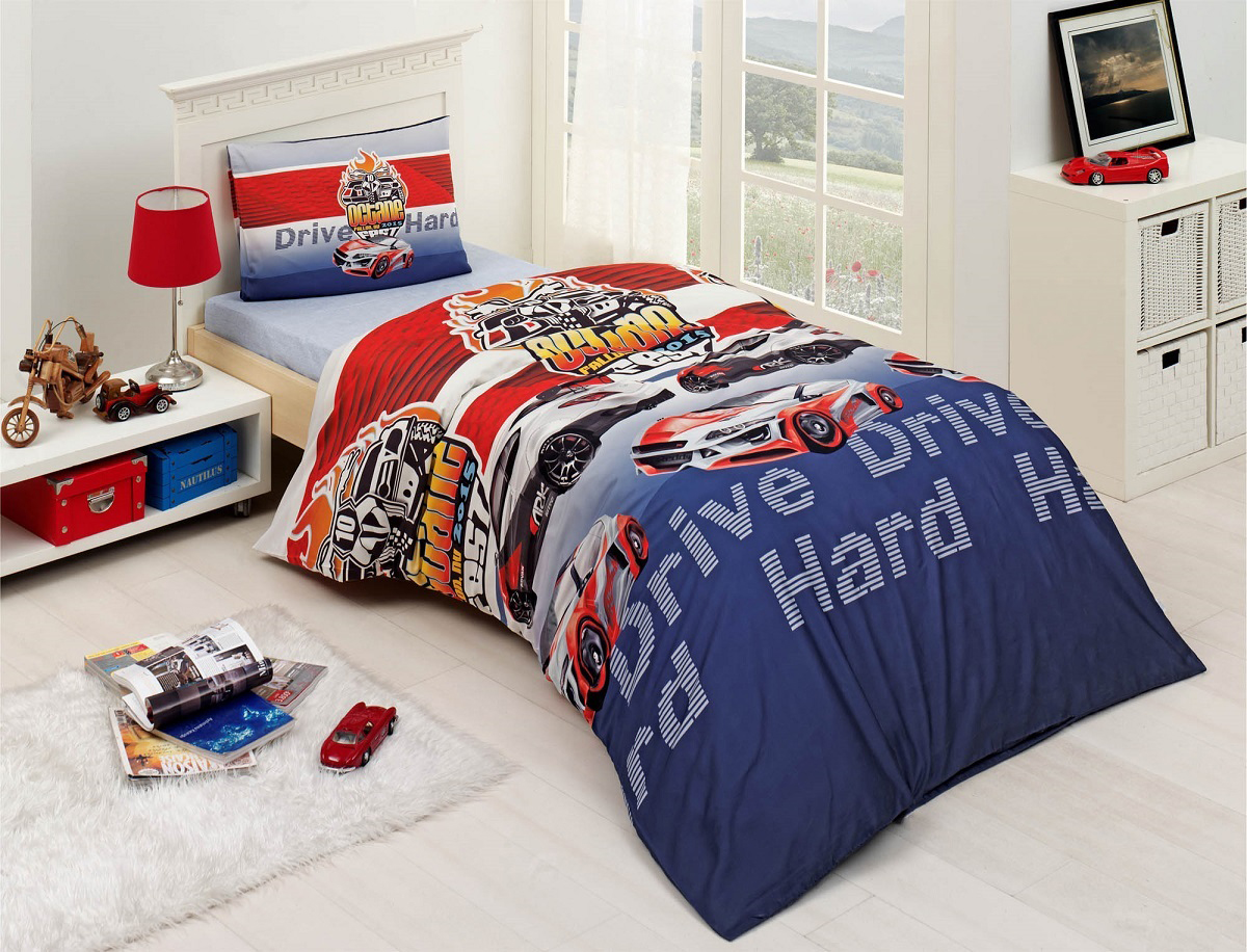 Купить Детское постельное белье Altinbasak, Детское Постельное белье Drive (160х220 см), Турция, Ранфорс