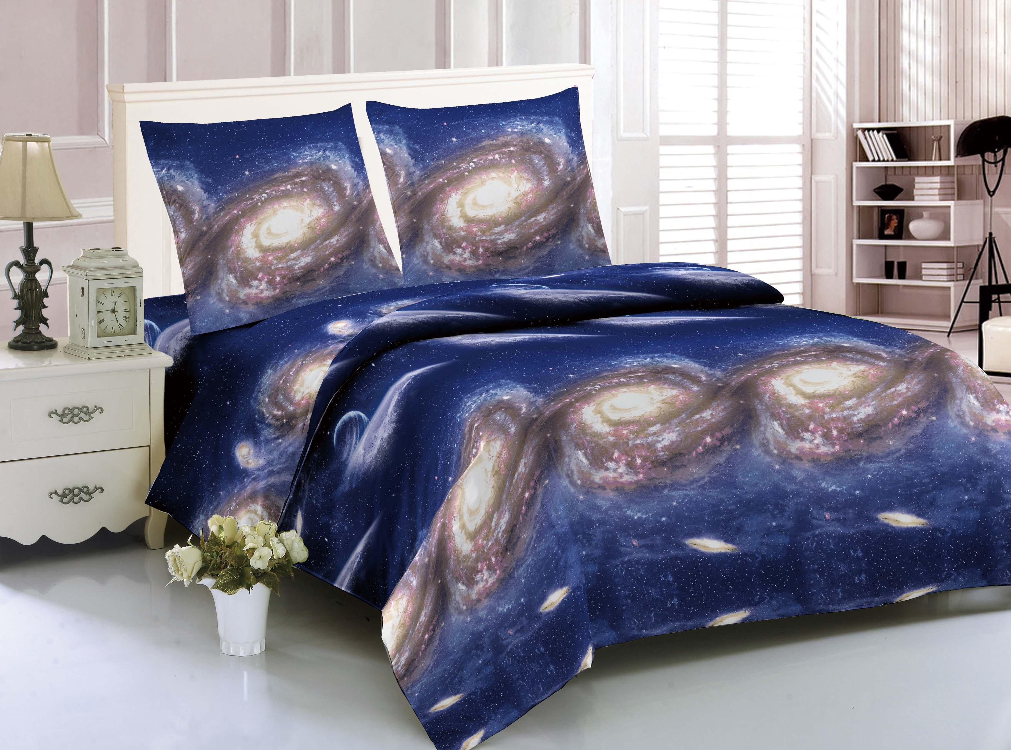 Купить Комплекты постельного белья Amore Mio, Постельное белье Space (1, 5 спал.), Китай, Синтетический сатин