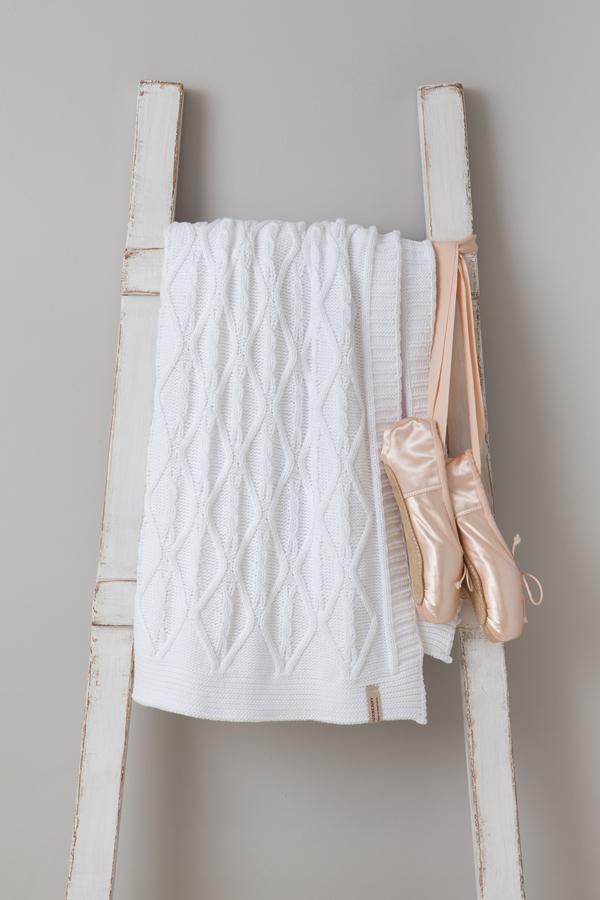 Купить Покрывала, подушки, одеяла для малышей Luxberry, Детский плед Juliet (100х150 см), Португалия, Белый, Вязаный хлопок