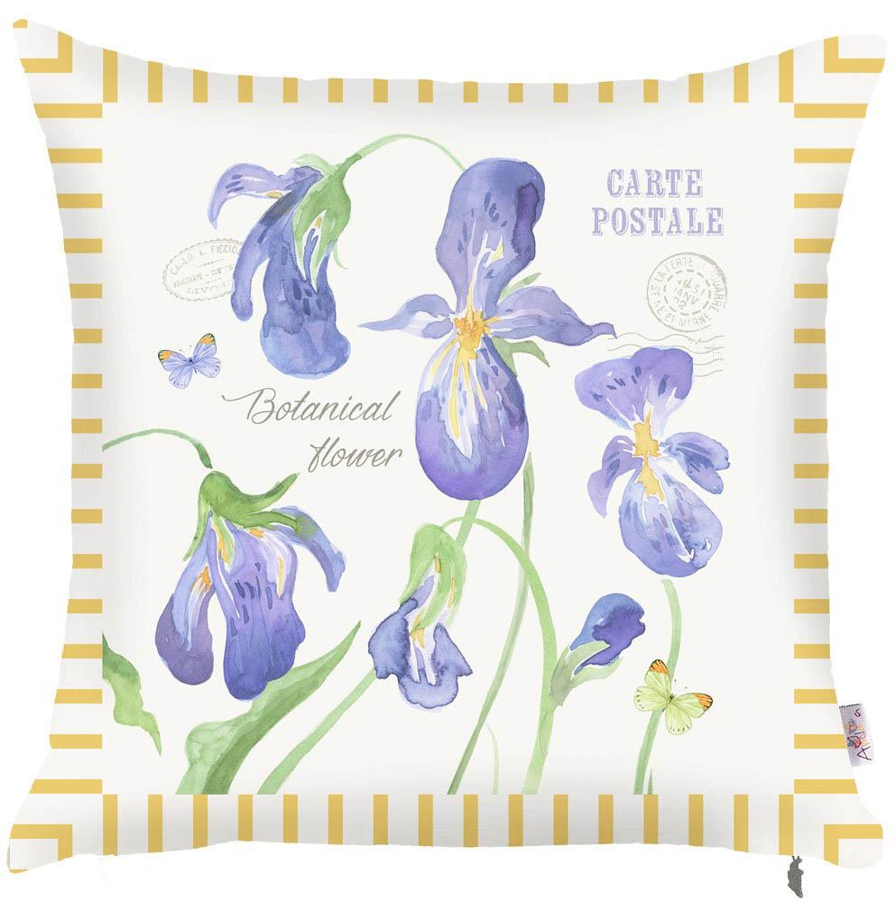 Купить Декоративные подушки Apolena, Декоративная наволочка Iris (43х43), Россия-Турция, Поликоттон