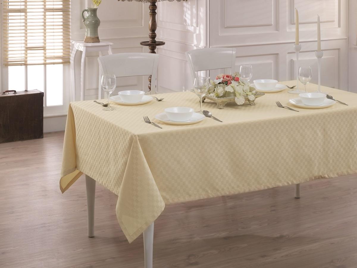 Купить Скатерти и салфетки Karna, Скатерть Linen V1 (160х270 см), Турция, Жаккард
