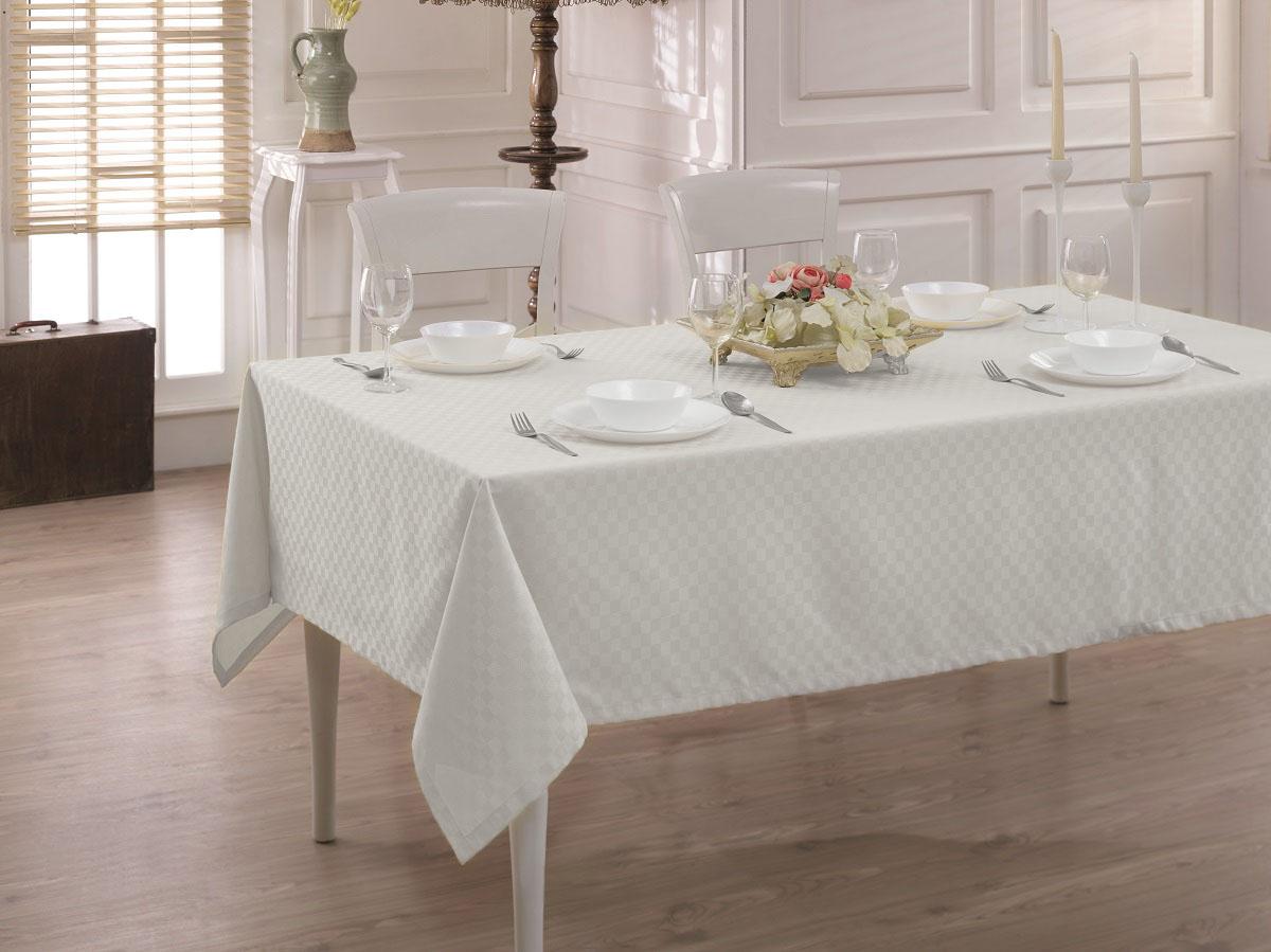 Купить Скатерти и салфетки Karna, Скатерть Linen V2 (160х270 см), Турция, Жаккард
