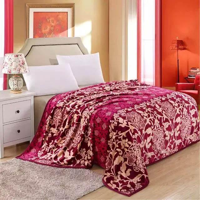 Купить Пледы и покрывала Tango, Плед Nord (200х220 см), Китай, Бордовый, Синтетическая фланель