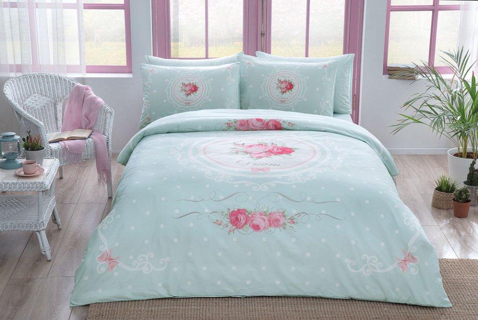 Комплекты постельного белья TAC Постельное белье Diane Цвет: Мятный (1,5 спал.)