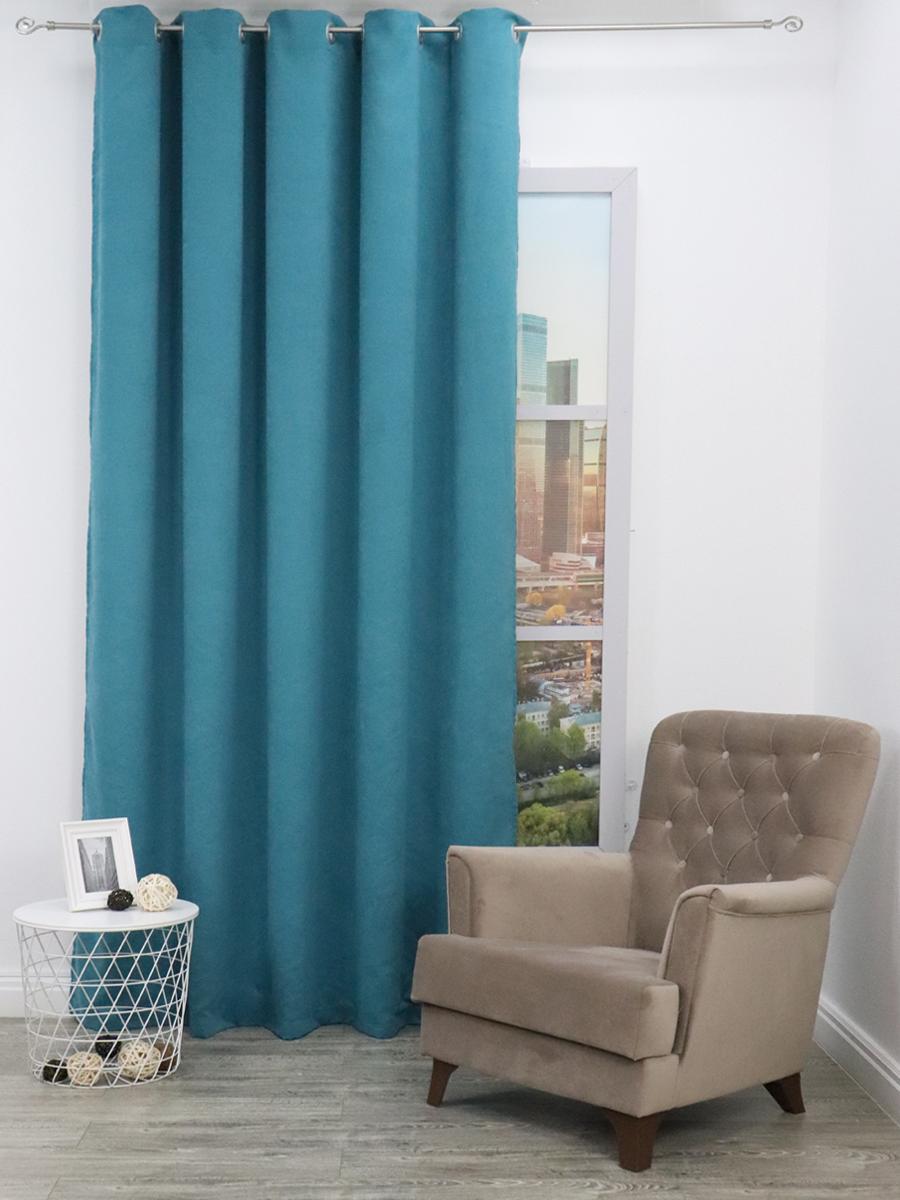 Классические шторы Alpha цвет: бирюзовый