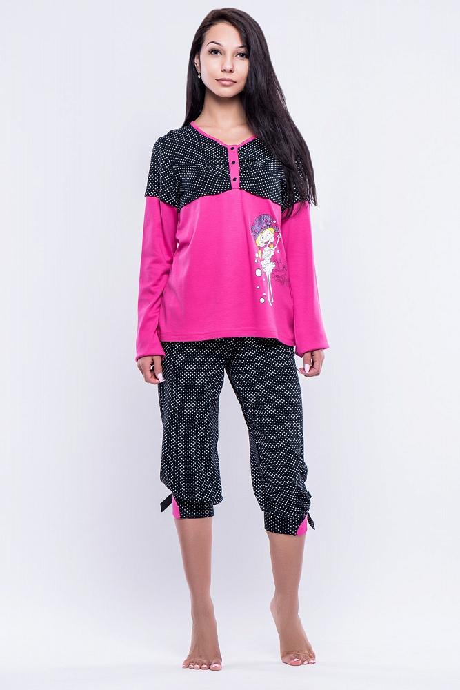 Пижама Latanya Цвет: Чёрный Розовый (42).