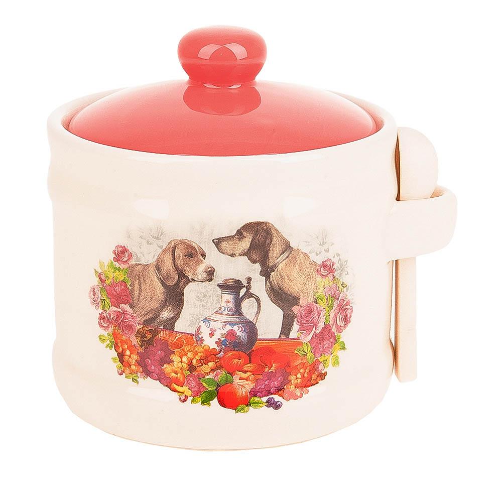 Купить Хранение продуктов Polystar, Банка для сыпучих продуктов Встреча (10х11 см), Китай, Красный, Оранжевый, Керамика