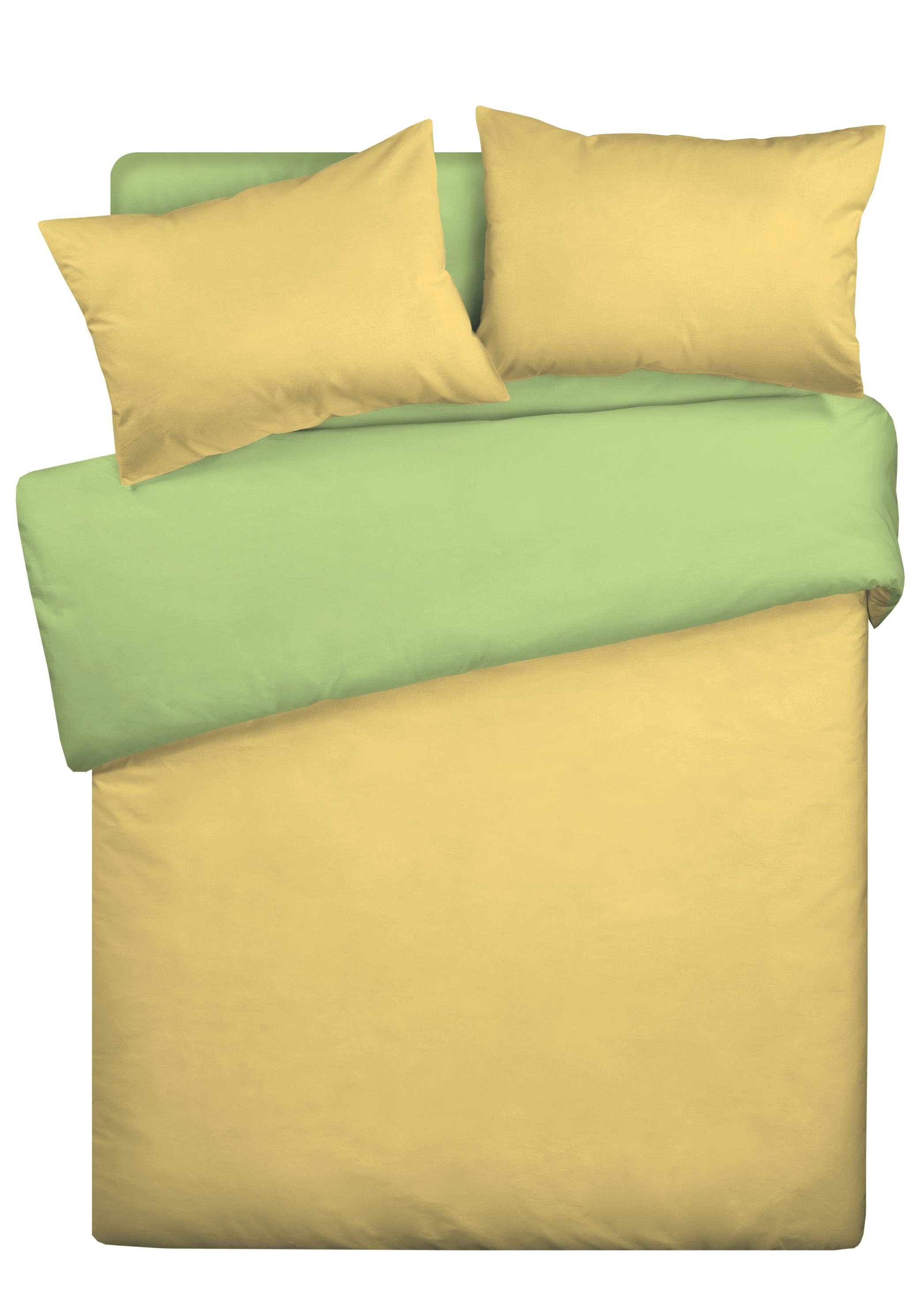 Купить Комплекты постельного белья WENGE, Постельное белье Murtagh Цвет: Жёлто-Салатовый (2 сп. евро), Россия, Бязь