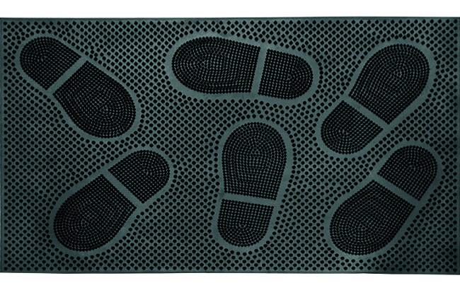 Ковры и ковровые дорожки SunStep Коврик Следы Цвет: Черный (40х60 см) коврик домашний sunstep цвет синий 140 х 200 х 4 см
