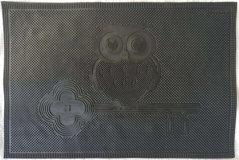 Ковры и ковровые дорожки SunStep Коврик Сова Цвет: Черный (40х60 см) коврик домашний sunstep цвет синий 140 х 200 х 4 см