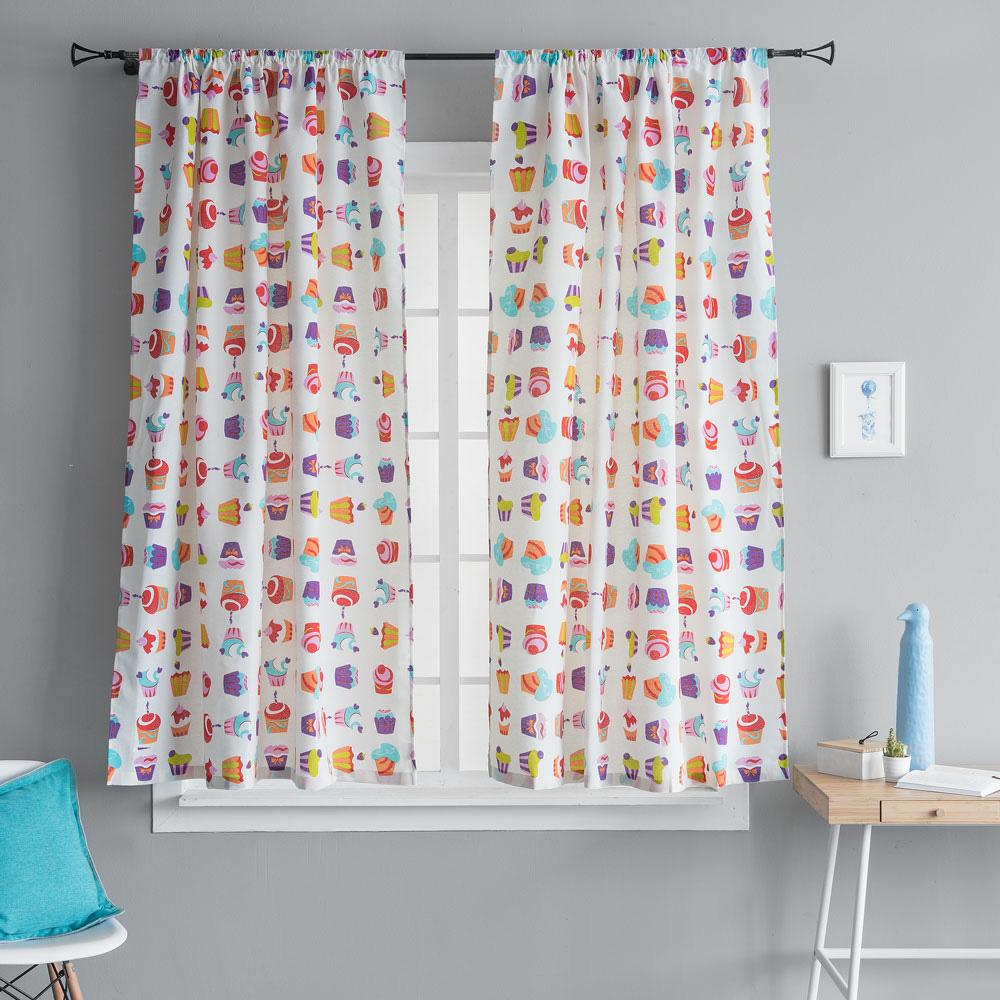 Купить Шторы MOLLY, Классические шторы Кэнди Цвет: Мультицвет, Россия, Портьерная ткань