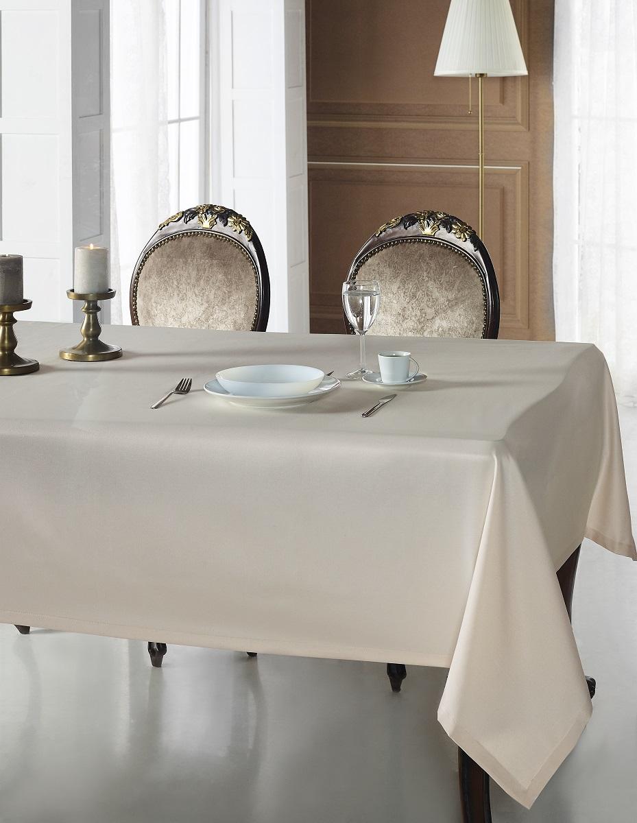 Купить Скатерти и салфетки Karna, Скатерть Linen V12 (160х220 см), Турция, Жаккард