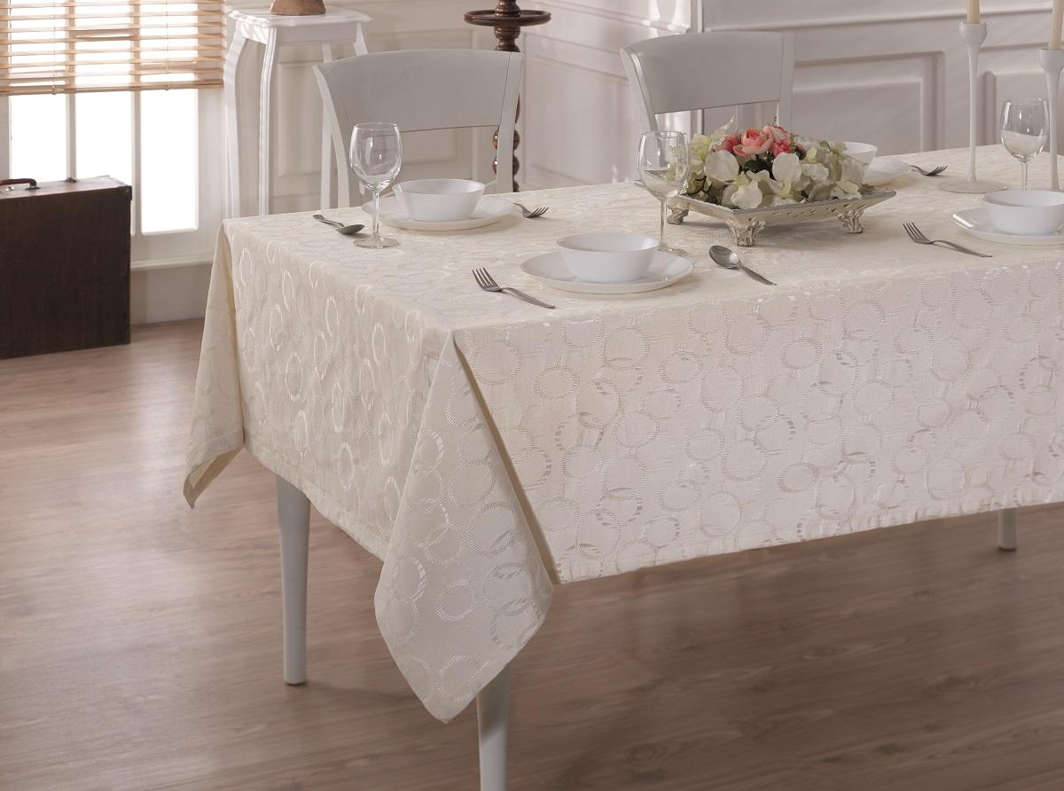 Купить Скатерти и салфетки Karna, Скатерть Linen V5 (160х220 см), Турция, Жаккард