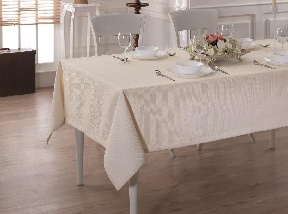 Купить Скатерти и салфетки Karna, Скатерть Linen V9 (160х220 см), Турция, Жаккард
