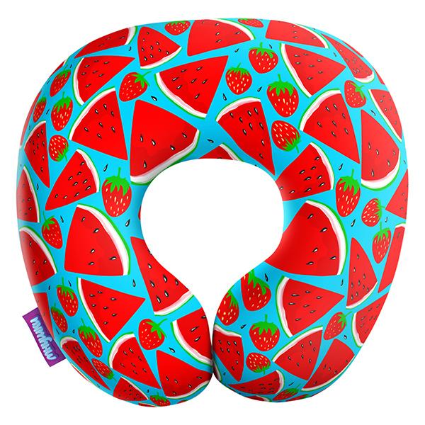 Декоративная подушка Сочный Арбуз Цвет: Голубой (34х34) фото