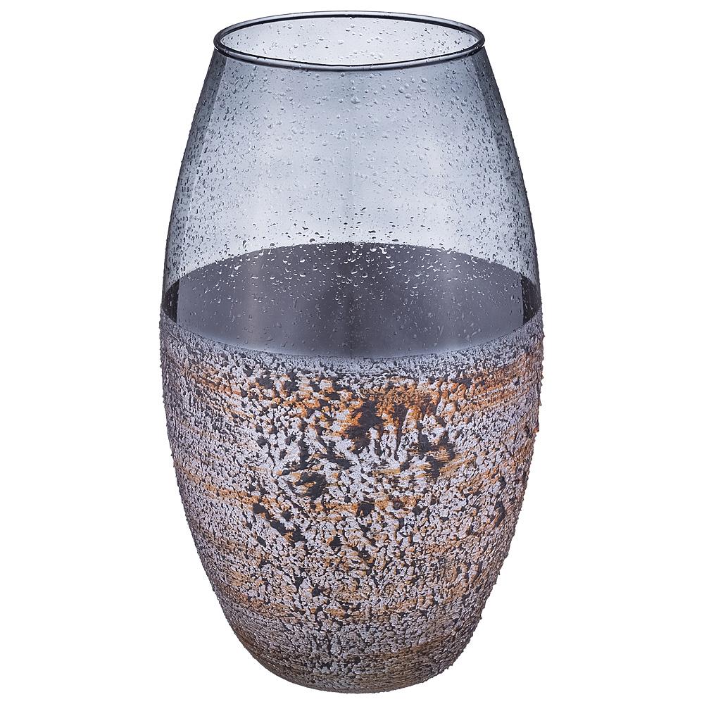 Купить Вазы Franco s.r.l., Ваза Black Stone (30 см), Италия, Сиреневый, Стекло
