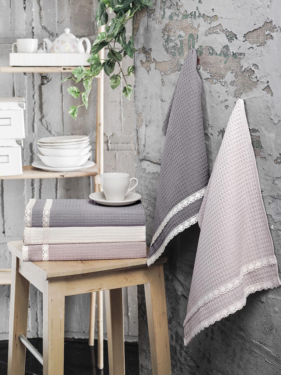 Купить Полотенца Karna, Кухонное полотенце Kopenaki V1 (40х60 см - 5 шт), Турция, Вафля