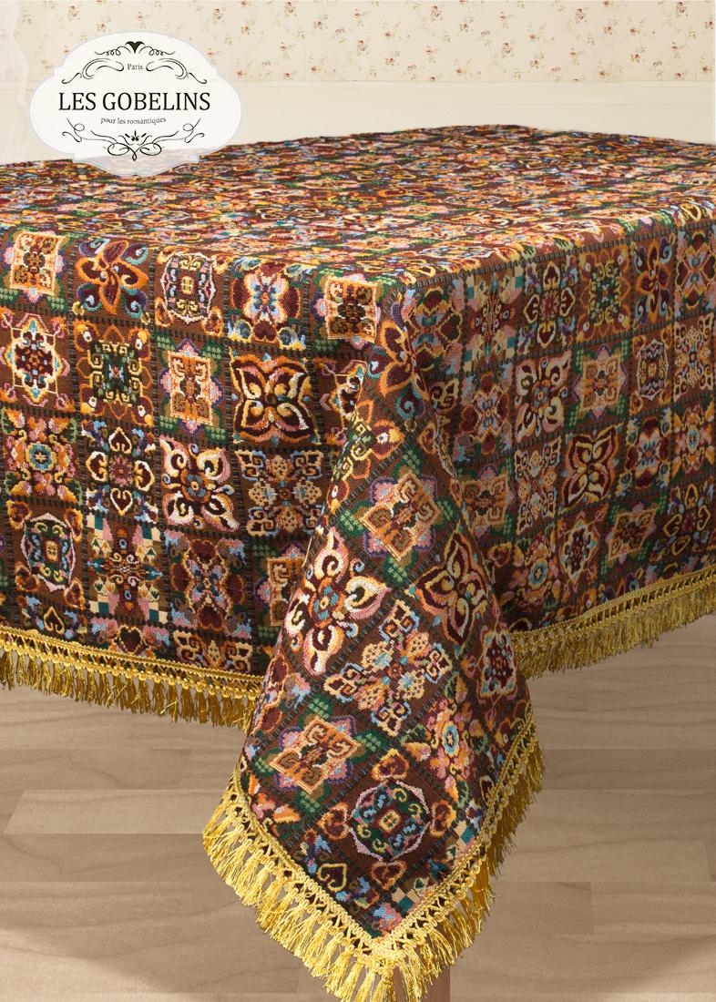 Скатерти и салфетки Les Gobelins Скатерть Mosaique De Fleurs (130х150 см) скатерти и салфетки les gobelins скатерть coquelicot 140х160 см