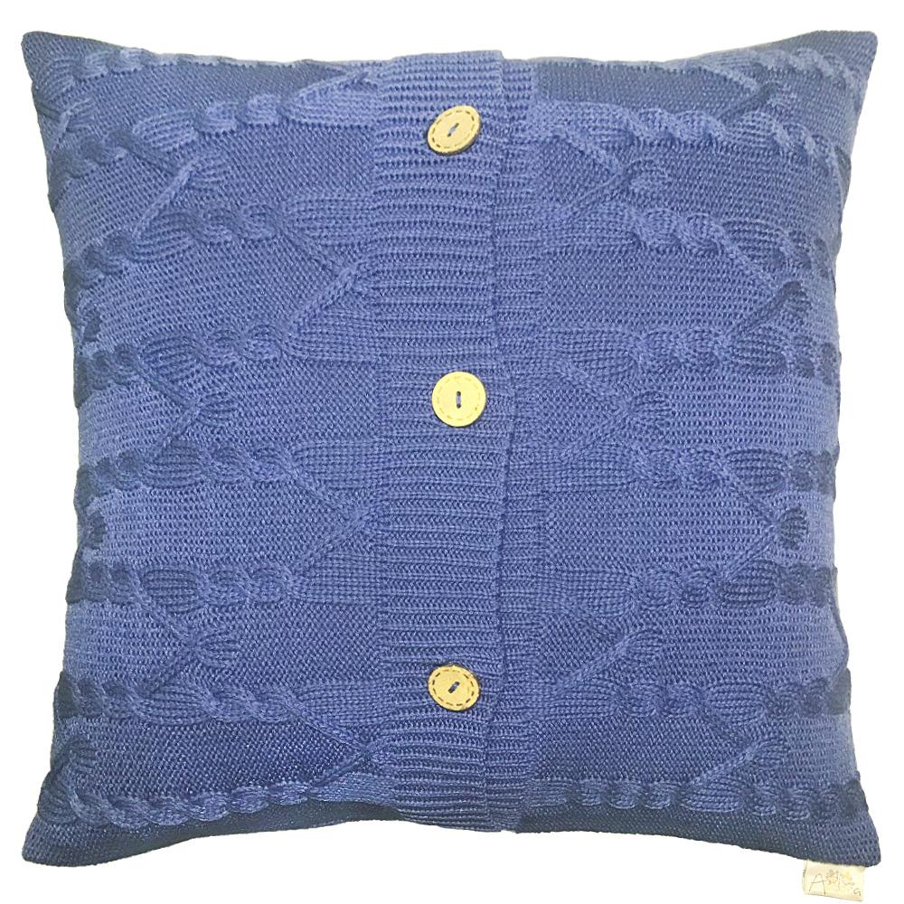 Купить Декоративные подушки Apolena, Декоративная наволочка Royal Blue (43х43), Россия-Турция, Вязаный акрил