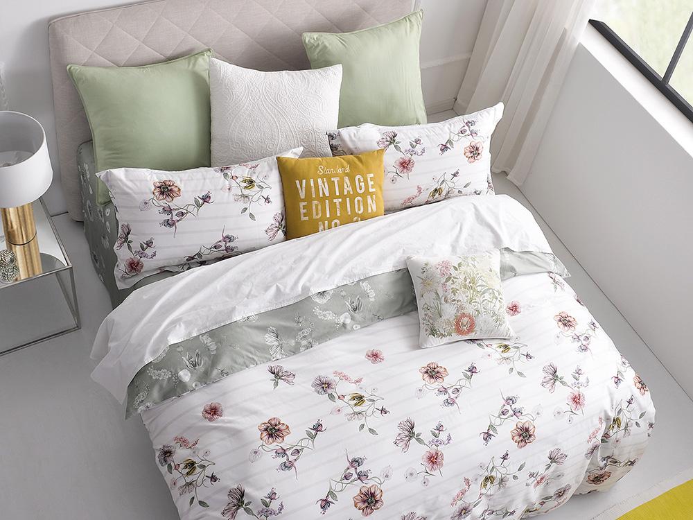 Купить Комплекты постельного белья Asabella, Постельное белье Marko (семейное), Китай, Белый, Розовый, Хлопковый сатин