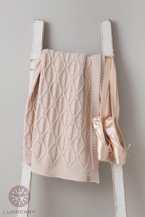 Купить Покрывала, подушки, одеяла для малышей Luxberry, Детский плед Juliet (100х150 см), Португалия, Персиковый, Вязаный хлопок