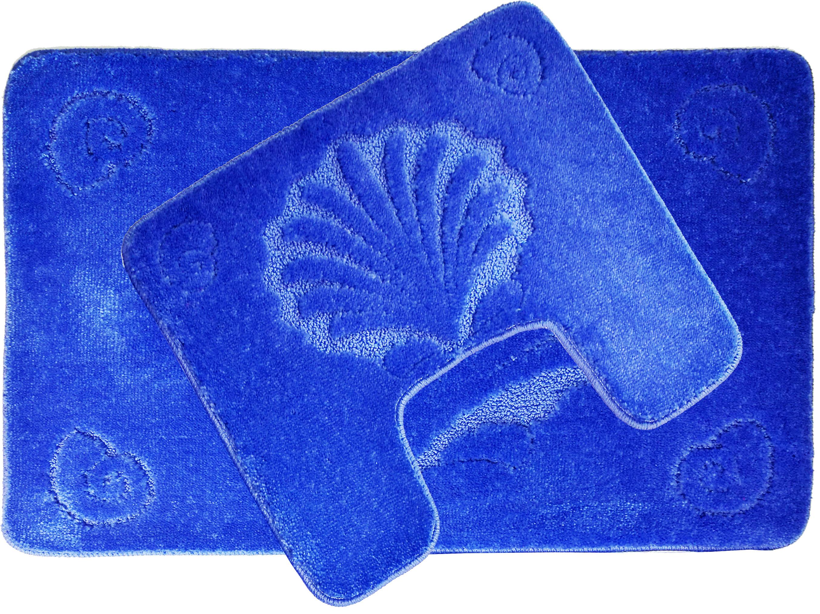Коврики для ванной и туалета SunStep Коврик для ванной Ракушка Цвет: Голубой (60х90 см,50х60 см) коврик домашний sunstep цвет синий 140 х 200 х 4 см