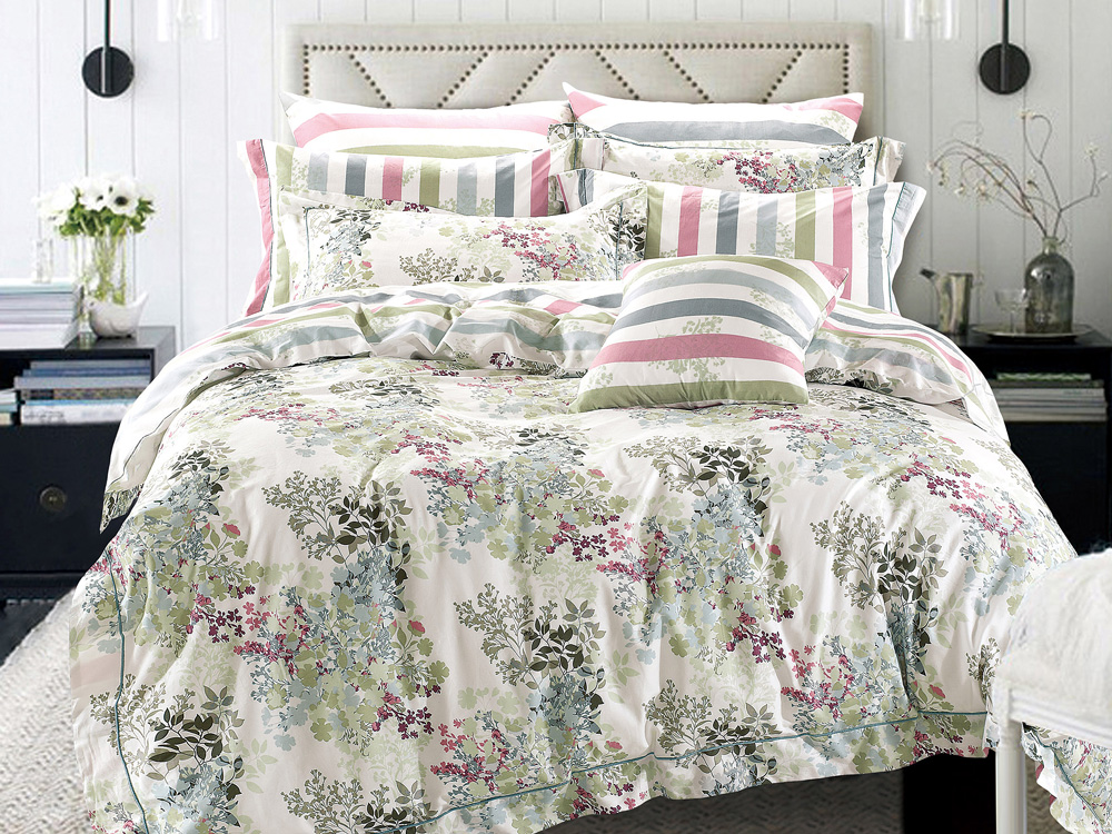 где купить Комплекты постельного белья Asabella Постельное белье Angus (2 сп. евро) по лучшей цене