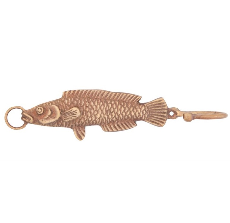 Купить Вешалки-плечики Ганг, Вешалка Рыба Цвет: Бронзовый (4х5х20 см - 2 шт), Индия, Латунь