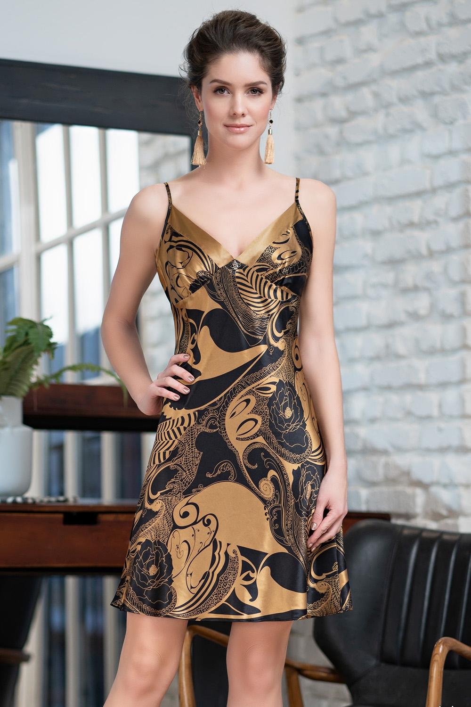 Ночная сорочка Arvika Цвет: Черный (48-50) фото