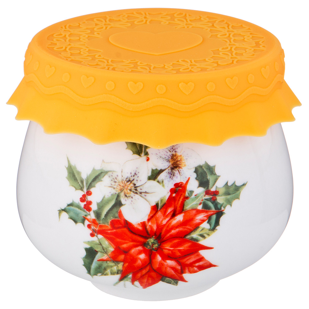 Купить Хранение продуктов Lefard, Баночка для мёда Пуансетия (180 мл), Китай, Фарфор