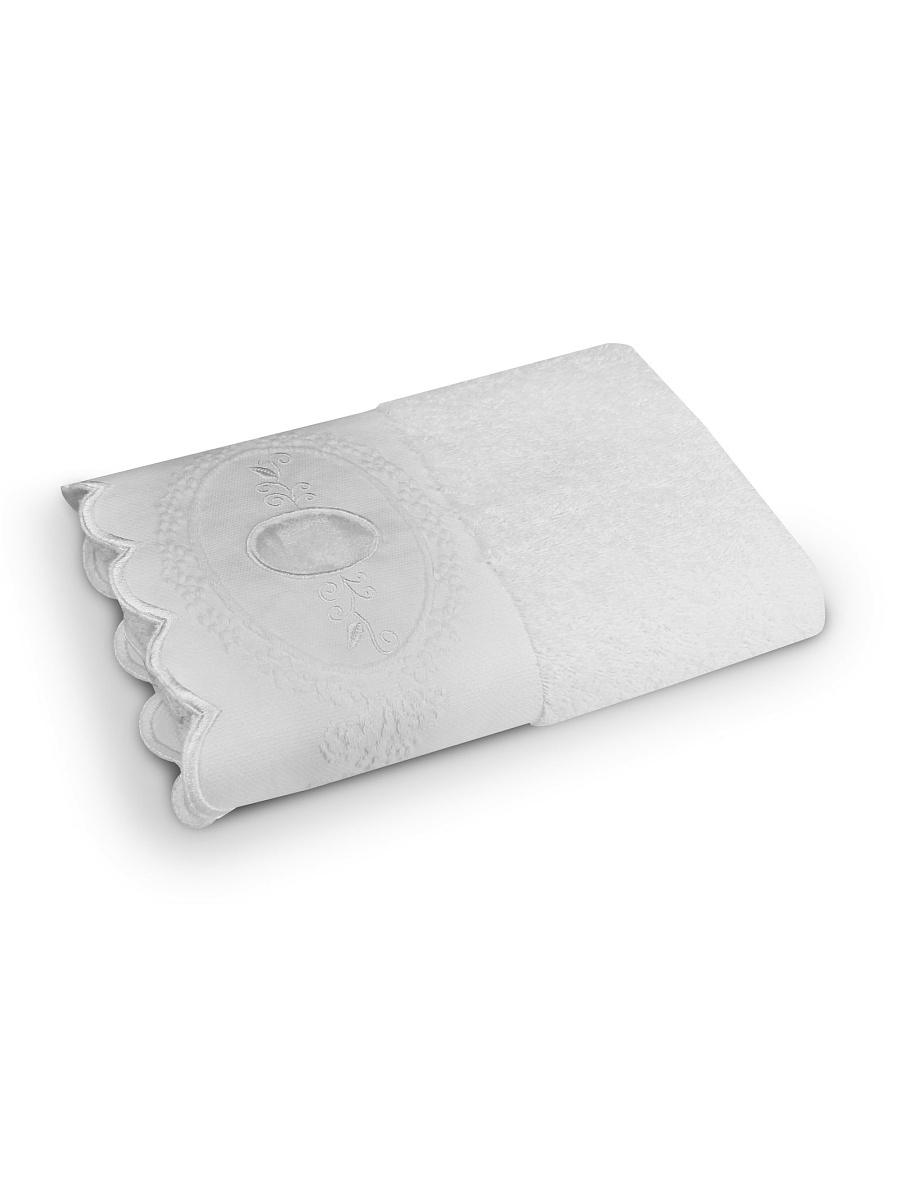 Купить Полотенца COZY HOME, Полотенце Жаклин Цвет: Белый (70х140 см), Китай, Махра
