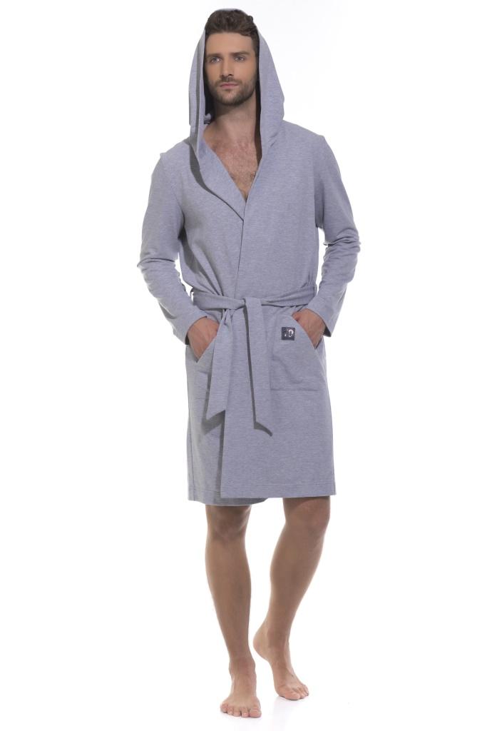 Домашний халат Amary Цвет: Серый Меланж (52-54) Peche Monnaie pmn321347