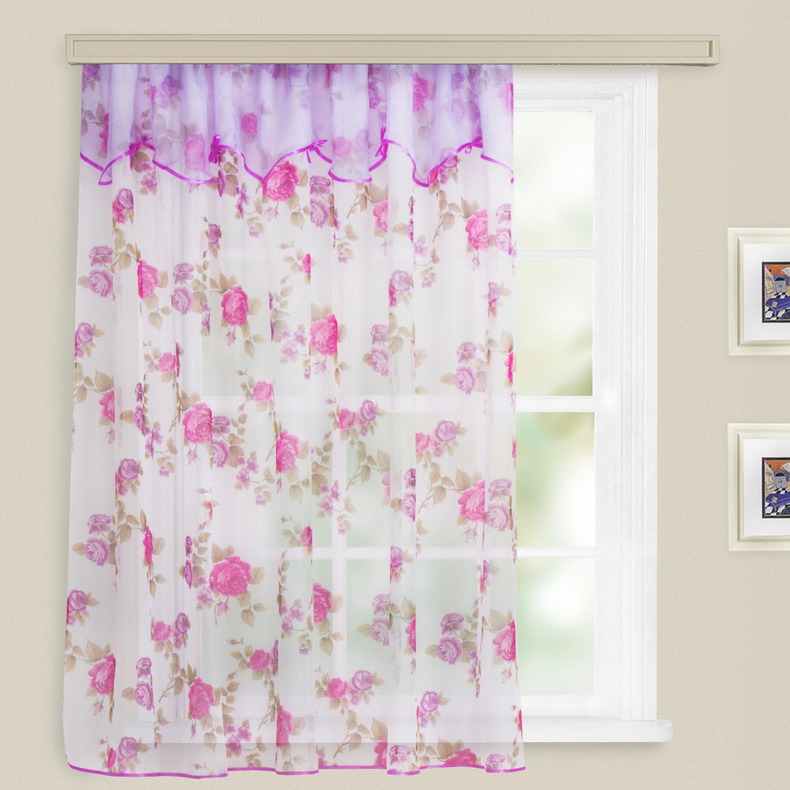 Купить Шторы Witerra, Классические шторы Nanette Цвет: Розовый, Россия, Вуаль