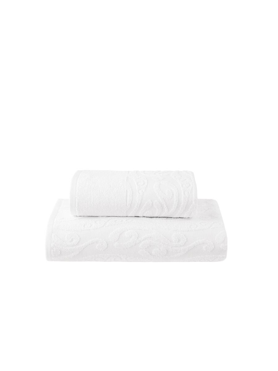 Купить Полотенца ESTIA, Полотенце Нова Цвет: Белый (50х100 см), Греция, Махра, Жаккард