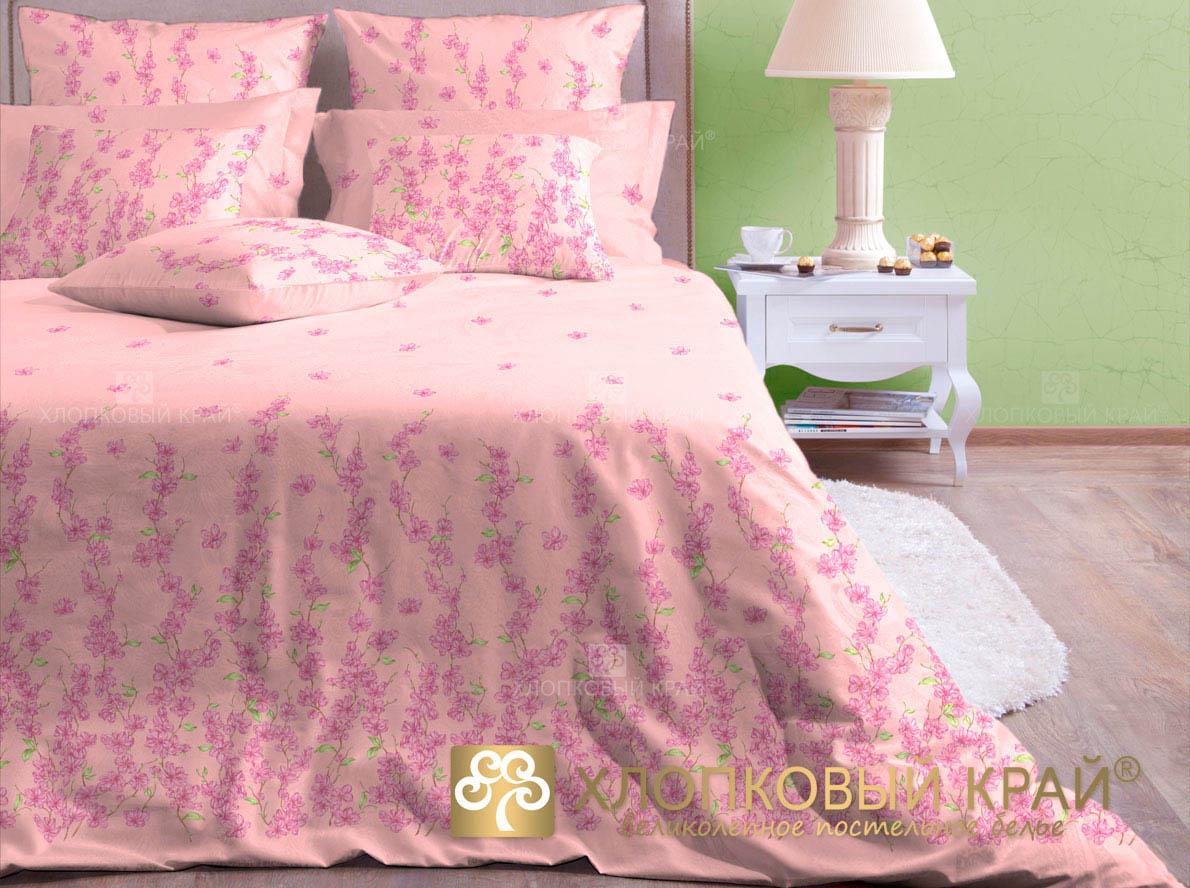 Комплекты постельного белья Хлопковый Край Постельное белье Шарлиз роза (2 спал.)