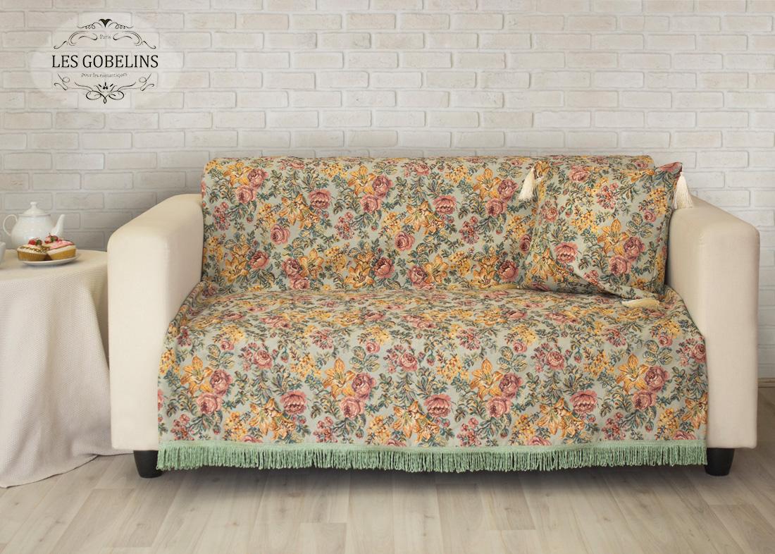 где купить Пледы и покрывала Les Gobelins Накидка на диван Arrangement De Fleurs (150х190 см) по лучшей цене