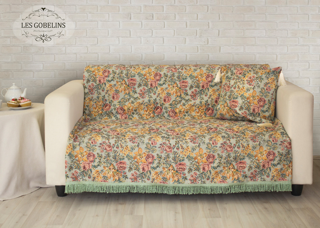 Пледы и покрывала Les Gobelins Накидка на диван Arrangement De Fleurs (150х190 см) les gobelins les gobelins накидка на диван bouquet francais 150х190 см
