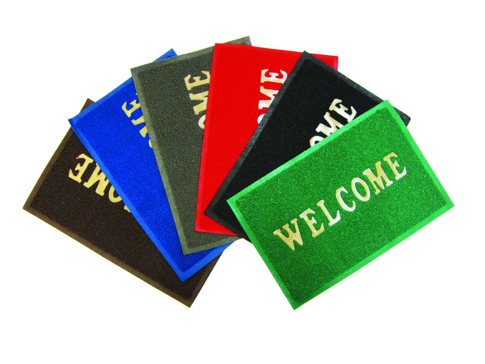Ковры и ковровые дорожки SunStep Коврик Welcome Цвет: Черный (40х60 см) коврик домашний sunstep цвет синий 140 х 200 х 4 см