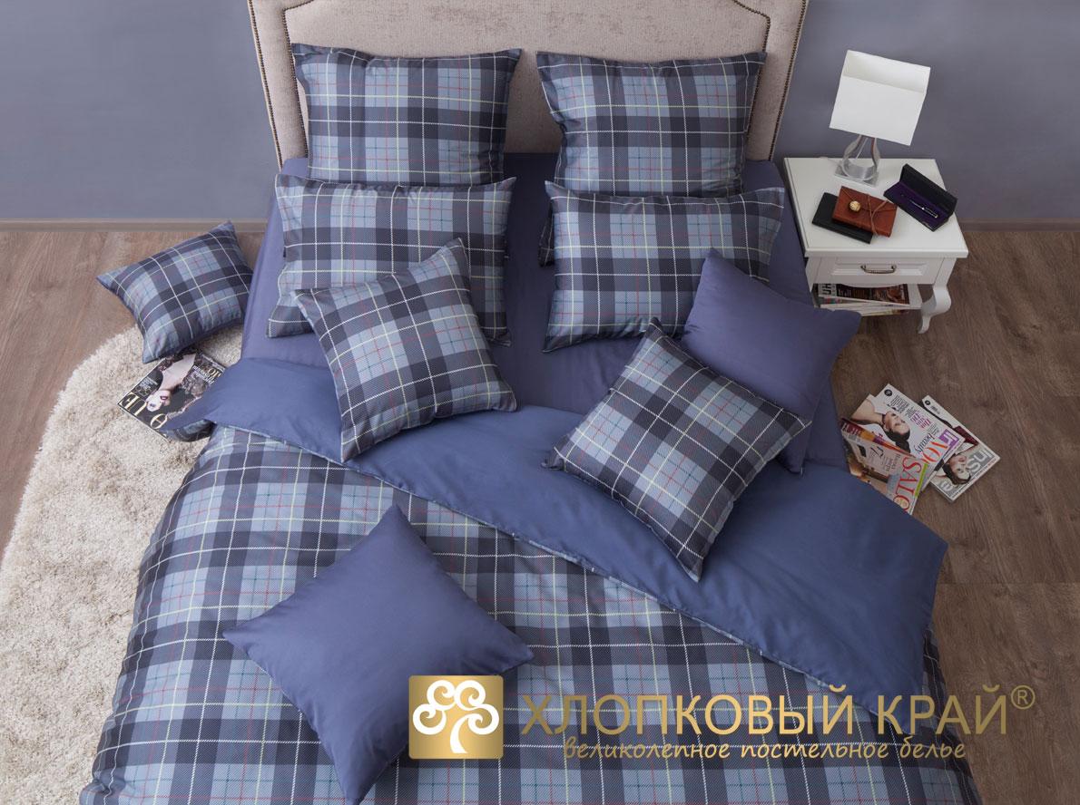 Комплекты постельного белья Хлопковый Край Постельное белье Уильям Цвет: Серый (2 спал.)