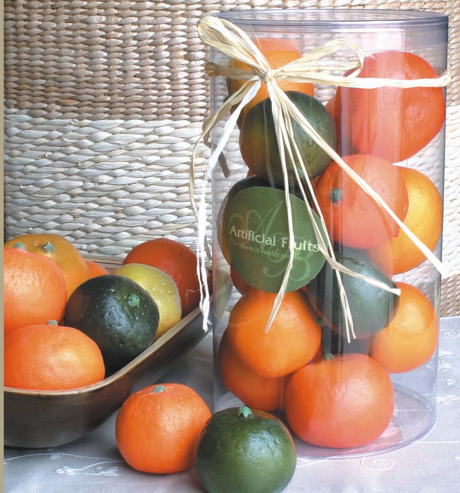 Купить Статуэтки и фигурки ARTEVALUCE, Муляж Мандарины Цвет: Оранжевый (Набор), Китай, Пластик