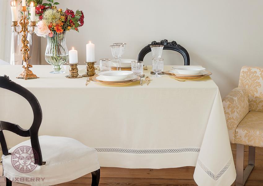 Купить Скатерти и салфетки BOVI, Скатерть Holiday Цвет: Экрю (160х180 см), Португалия, Поликоттон